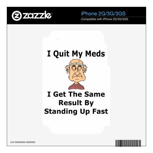 Edad y humor médico iPhone 3G calcomanía