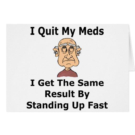 Edad y humor médico tarjeta de felicitación