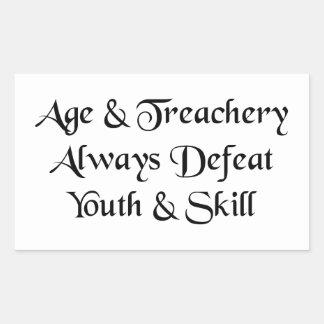 Edad y pegatina de la traición
