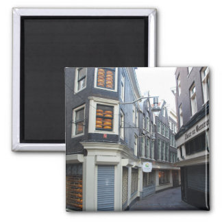 Edam cheeses in Amsterdam alley Refrigerator Magnets