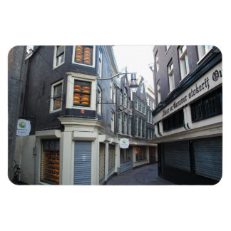 Edam cheeses in Amsterdam alley Rectangular Magnets