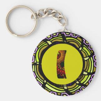 """Edart Design """" L """" Basic Round Button Keychain"""