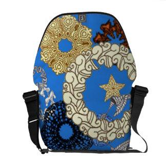 "Edart Design ""Message Blue"" Courier Bag"