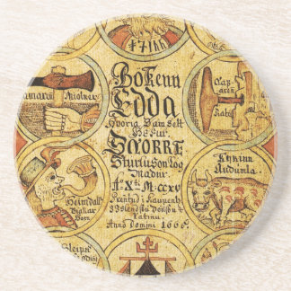 Edda Norse Mythology Drink Coaster