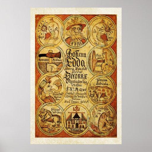 Edda Norse Mythology Posters