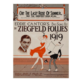 Eddie Cantor 1919 de Ziegfeld Póster