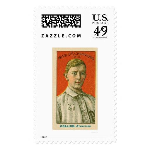 Eddie Collins Baseball 1910 Stamp