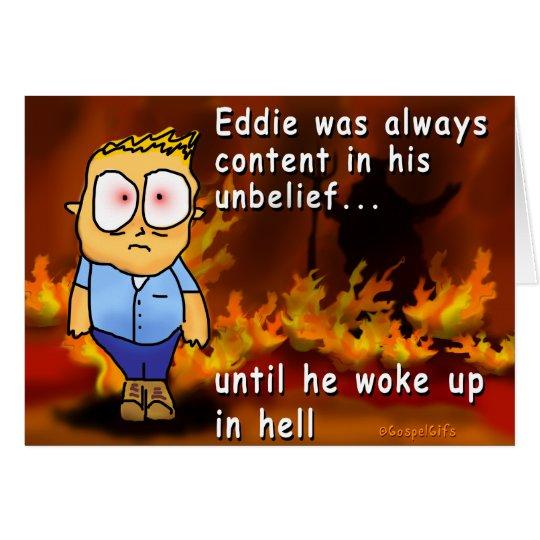 Eddie despierta en infierno tarjeta de felicitación