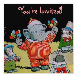 Eddie Elephant Having A Party Custom Announcement