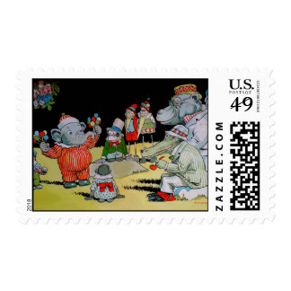 Eddie Elephant's Party Postage Stamps