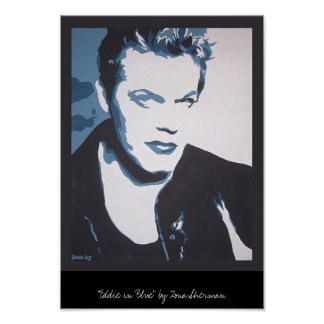 Eddie en azul póster