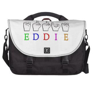 EDDIE FINGERSPELLED NAME ASL BAGS FOR LAPTOP