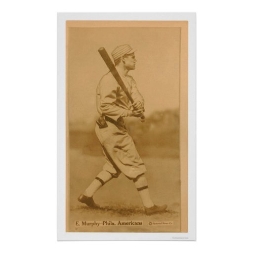 Eddie Murphy Athletics Baseball 1914 Poster