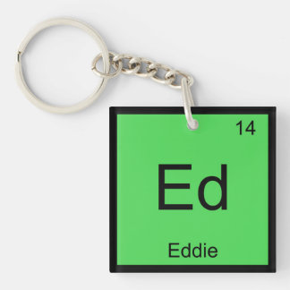 Eddie Name Chemistry Element Periodic Table Keychains