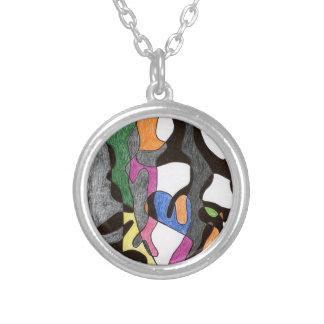 Eddie Price Anthropomorphic Round Pendant Necklace