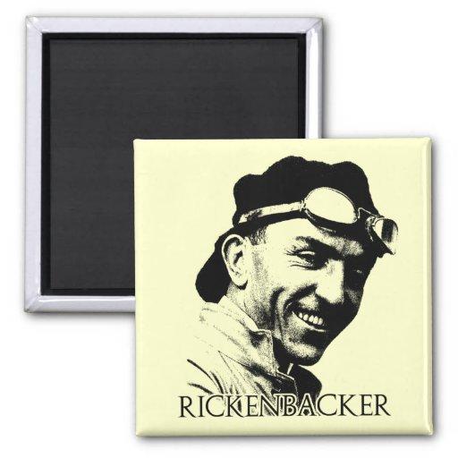 Eddie Rickenbacker 2 Inch Square Magnet
