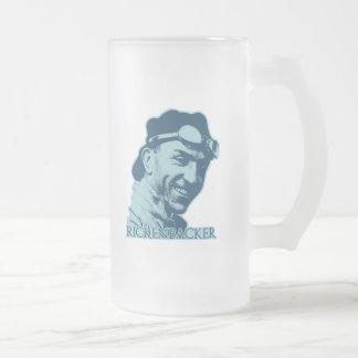 Eddie Rickenbacker - 2 16 Oz Frosted Glass Beer Mug