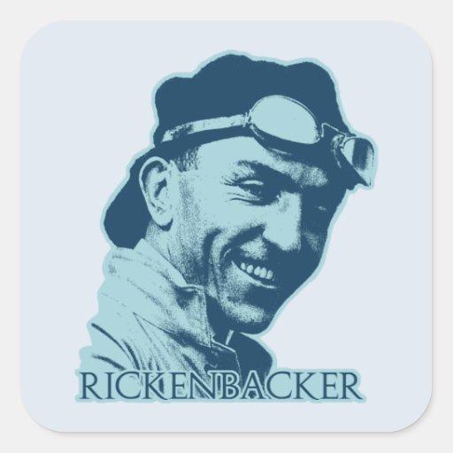 Eddie Rickenbacker - 2 Square Sticker