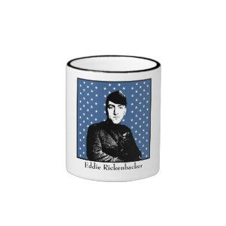 Eddie Rickenbacker and the Medal of Honor Flag Coffee Mugs