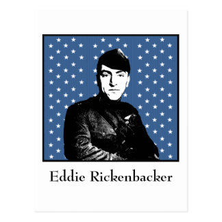 Eddie Rickenbacker and the MOH Flag Postcard