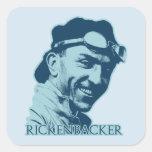 Eddie Rickenbacker - color Pegatinas Cuadradas Personalizadas