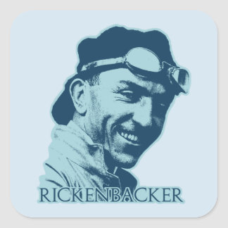 Eddie Rickenbacker - color Pegatina Cuadrada