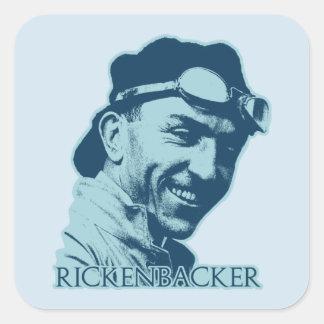 Eddie Rickenbacker - color Square Sticker