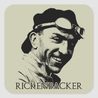 Eddie Rickenbacker Pegatina Cuadrada