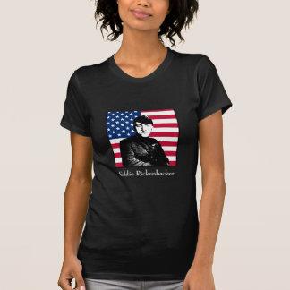 Eddie Rickenbacker y la bandera americana Camiseta