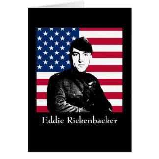Eddie Rickenbacker y la bandera americana Tarjeta De Felicitación