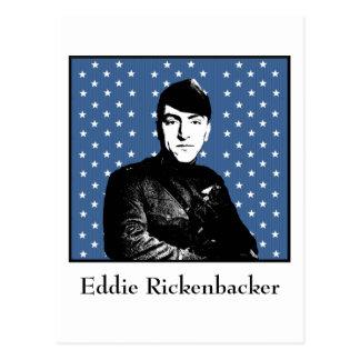 Eddie Rickenbacker y la bandera de MOH Postales