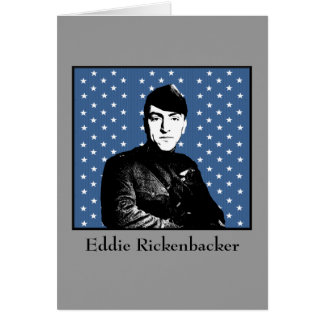 Eddie Rickenbacker y la bandera de MOH Tarjeta De Felicitación