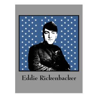 Eddie Rickenbacker y la bandera de MOH Tarjetas Postales