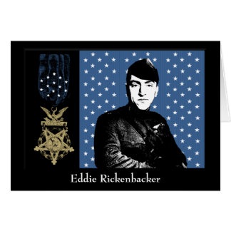 Eddie Rickenbacker y la medalla de honor Tarjeta De Felicitación