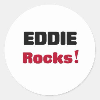 Eddie Rocks Classic Round Sticker