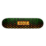 Eddie skateboard fire and flames design.