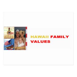 EDDIE US SENATOR 2012 | HAWAII FAMILY VALUES POSTCARD