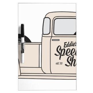 Eddies Speed Shop truck and bike Dry Erase Board