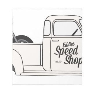 Eddies Speed Shop truck and bike Notepad