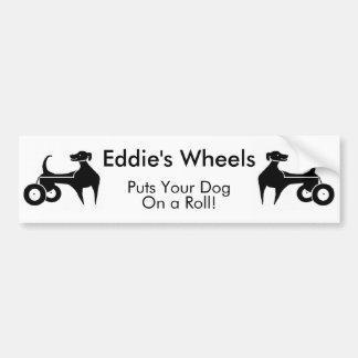 Eddie's Wheels Bumper Sticker Car Bumper Sticker