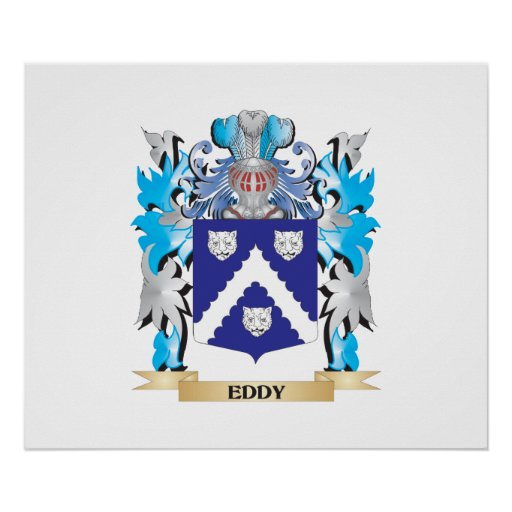 Eddy Coat of Arms - Family Crest Posters