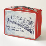 """Eddy Farm School for Horse and Rider Metal Lunch Box<br><div class=""""desc"""">The Eddy Farm School for Horse and Rider (EFSHR) is a nonprofit educational organization dedicated to teaching classical techniques that encourages clear communication between horses and riders while also promoting amateur competition for everyone in our community regardless of age or physical capabilities.</div>"""