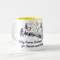 Eddy Farm School for Horse and Rider Two-Tone Coffee Mug