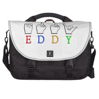 EDDY NAME SIGN FINGERSPELLED ASL LAPTOP BAG
