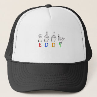 EDDY NAME SIGN FINGERSPELLED ASL TRUCKER HAT