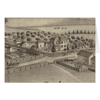Eddy stock farm & residence, Benton Tp Card