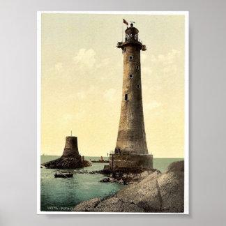 Eddystone Lighthouse Plymouth England classic Ph Print