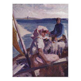 Edelfelt, Albert Gustav Aristides Auf dem Meer um  Postcards