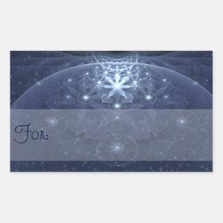 Edelweiss Abstract Art Gift Tag Rectangular Sticker