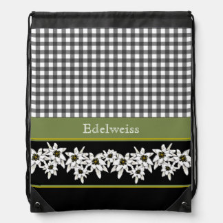 Edelweiss Decorative Drawstring Backpack